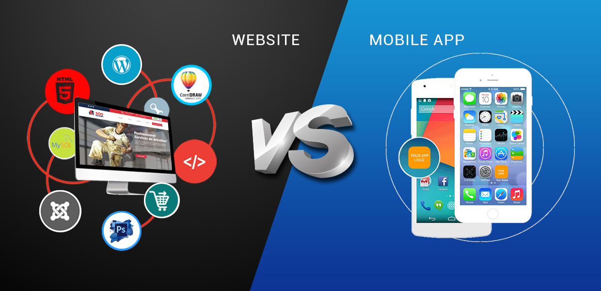 Mobile apps vs Website